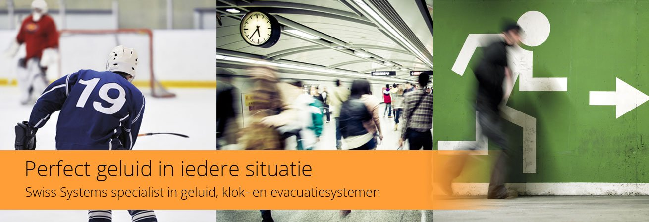 Geluid-, klok-, evacuatiesystemen